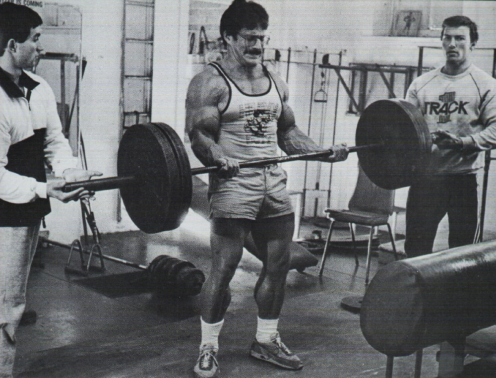 Mike Mentzer, a huge proponent of intensity over frequency for both strength and hypertrophy.